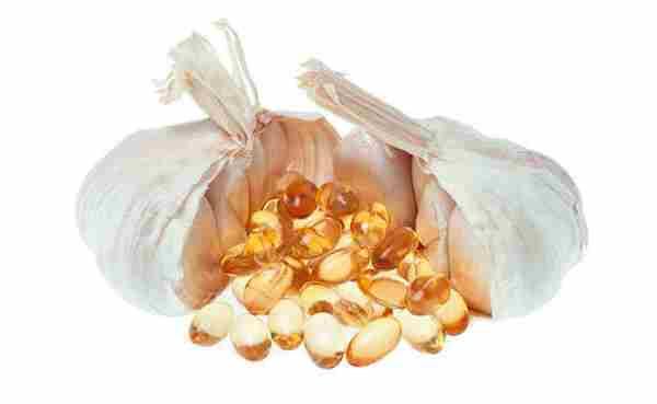 aceite esencial de ajo en perlas
